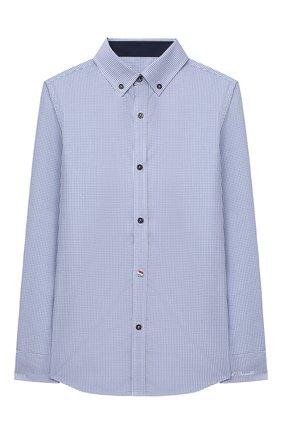 Детская хлопковая рубашка ALESSANDRO BORELLI MILANO голубого цвета, арт. S20E04-20л | Фото 1