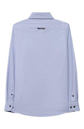 Детская хлопковая рубашка ALESSANDRO BORELLI MILANO голубого цвета, арт. S20E04-20л | Фото 2
