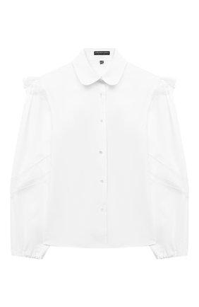 Детское хлопковая блузка ALESSANDRO BORELLI MILANO белого цвета, арт. S2003-20л | Фото 1