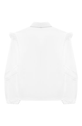 Детское хлопковая блузка ALESSANDRO BORELLI MILANO белого цвета, арт. S2003-20л | Фото 2