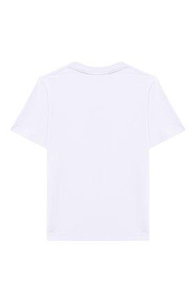 Детская хлопковая футболка BURBERRY белого цвета, арт. 8028811 | Фото 2