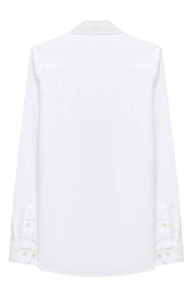 Детская хлопковая рубашка BURBERRY белого цвета, арт. 8030103 | Фото 2