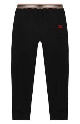 Детские хлопковые брюки BURBERRY черного цвета, арт. 8030127 | Фото 2