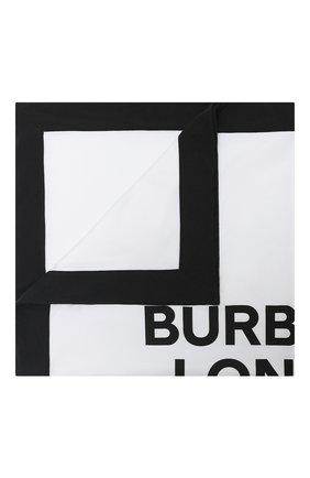 Детского хлопковое одеяло BURBERRY белого цвета, арт. 8030393 | Фото 1