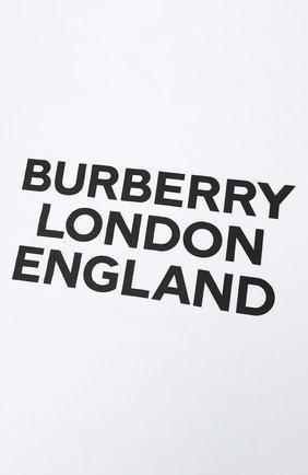 Детского хлопковое одеяло BURBERRY белого цвета, арт. 8030393 | Фото 2