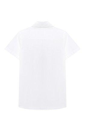Детская хлопковая рубашка BURBERRY белого цвета, арт. 8030467 | Фото 2