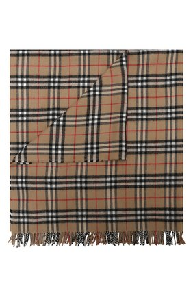 Детского шерстяное одеяло BURBERRY бежевого цвета, арт. 8030885   Фото 1