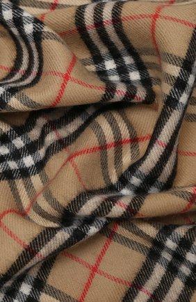 Детского шерстяное одеяло BURBERRY бежевого цвета, арт. 8030885   Фото 2