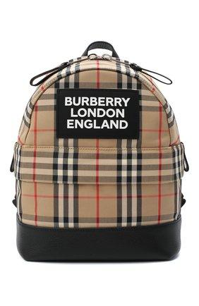 Детская рюкзак BURBERRY бежевого цвета, арт. 8031006 | Фото 1