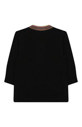 Детский шерстяной кардиган BURBERRY черного цвета, арт. 8031607 | Фото 2