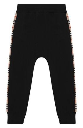 Детские хлопковые джоггеры BURBERRY черного цвета, арт. 8031658 | Фото 2