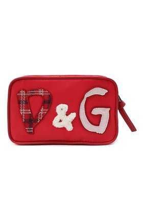 Детская поясная сумка DOLCE & GABBANA красного цвета, арт. EB0202/AE172 | Фото 1