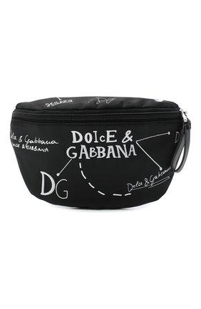 Детская поясная сумка DOLCE & GABBANA черно-белого цвета, арт. EM0072/AS772 | Фото 1