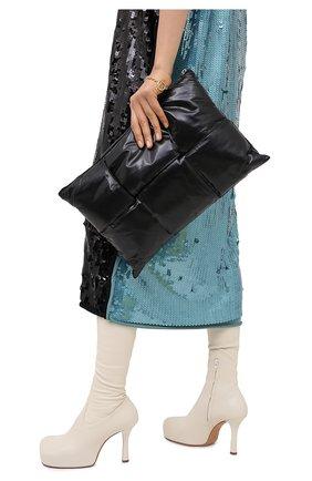Женские кожаный футляр для документов BOTTEGA VENETA черного цвета, арт. 630348/VB090 | Фото 2