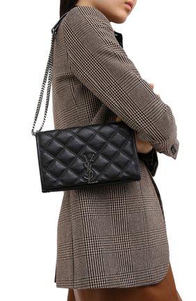 Женская сумка angie mini SAINT LAURENT черного цвета, арт. 585031/1UQ23 | Фото 2