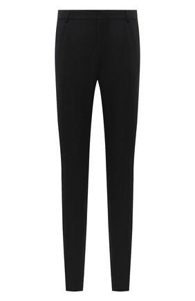 Мужской шерстяные брюки BALMAIN черного цвета, арт. UH15744/W050 | Фото 1