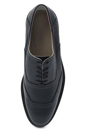 Мужские кожаные оксфорды KITON темно-синего цвета, арт. USSRENZN00126 | Фото 5