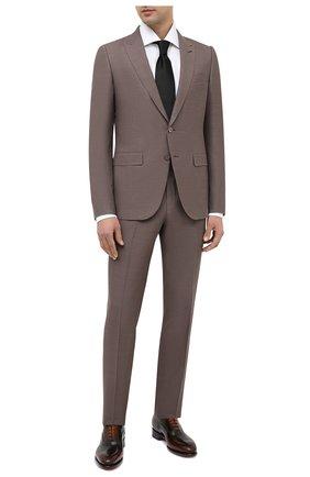Мужские кожаные оксфорды SANTONI коричневого цвета, арт. MCCR12621MC1HNGWN51   Фото 2