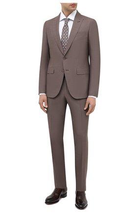 Мужские кожаные оксфорды SANTONI коричневого цвета, арт. MCCR12621MC1HVVDT50 | Фото 2