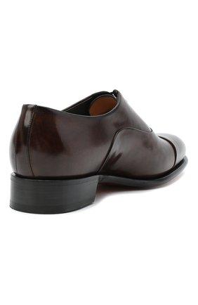 Мужские кожаные оксфорды SANTONI коричневого цвета, арт. MCCR12621MC1HVVDT50 | Фото 4