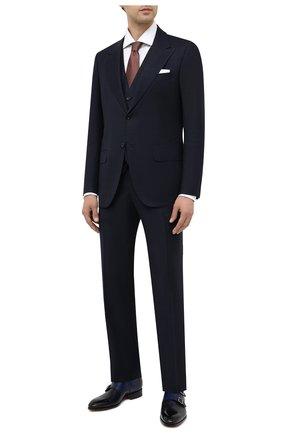 Мужские кожаные монки SANTONI темно-синего цвета, арт. MCCR15006JC6INVDU56 | Фото 2