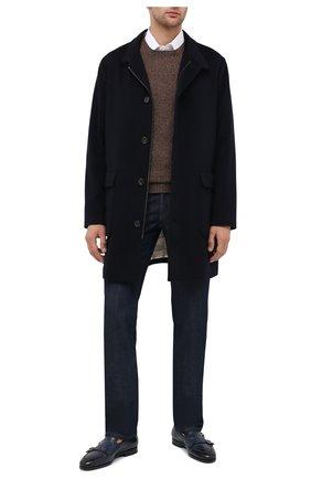 Мужские кожаные монки SANTONI темно-синего цвета, арт. MCNC16848SI1EGTKU48 | Фото 2