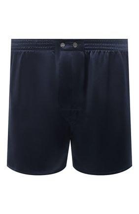 Мужские шелковые боксеры DEREK ROSE темно-синего цвета, арт. 6030-BAIL001 | Фото 1