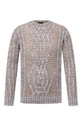 Мужской свитер GIORGIO ARMANI бежевого цвета, арт. 6HSM22/SM30Z | Фото 1