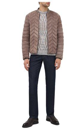 Мужской свитер GIORGIO ARMANI бежевого цвета, арт. 6HSM22/SM30Z | Фото 2
