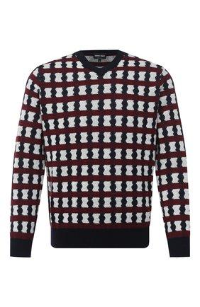 Мужской пуловер из шерсти и кашемира GIORGIO ARMANI разноцветного цвета, арт. 6HSM19/SM17Z | Фото 1