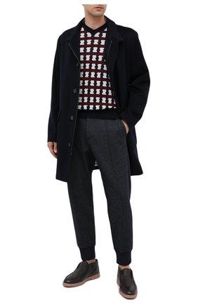 Мужской пуловер из шерсти и кашемира GIORGIO ARMANI разноцветного цвета, арт. 6HSM19/SM17Z | Фото 2