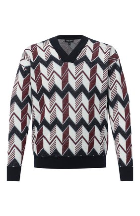Мужской пуловер из кашемира и шелка GIORGIO ARMANI разноцветного цвета, арт. 6HSM16/SM14Z | Фото 1