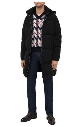 Мужской пуловер из кашемира и шелка GIORGIO ARMANI разноцветного цвета, арт. 6HSM16/SM14Z | Фото 2