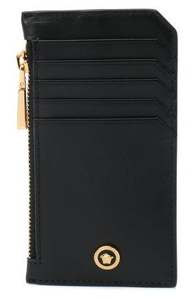 Мужской кожаный футляр для кредитных карт VERSACE черного цвета, арт. DP37855/DVTE4 | Фото 1