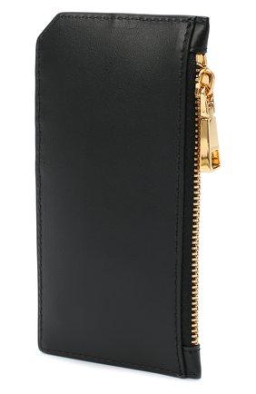Мужской кожаный футляр для кредитных карт VERSACE черного цвета, арт. DP37855/DVTE4 | Фото 2