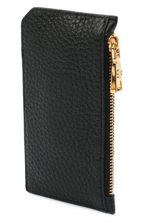 Мужской кожаный футляр для кредитных карт VERSACE черного цвета, арт. DP37855/DVTG4M | Фото 2