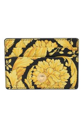 Мужской кожаный футляр для кредитных карт VERSACE желтого цвета, арт. DPN2467/DVTS26 | Фото 1