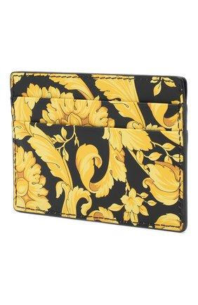 Мужской кожаный футляр для кредитных карт VERSACE желтого цвета, арт. DPN2467/DVTS26 | Фото 2