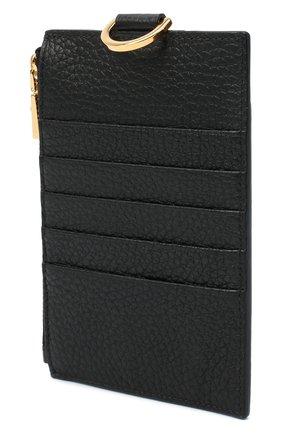 Мужской кожаный футляр для кредитных карт VERSACE черного цвета, арт. DPN8112/DVTG4M | Фото 2