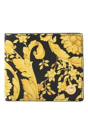 Мужской кожаное портмоне VERSACE желтого цвета, арт. DPU2463/DVTS26 | Фото 1