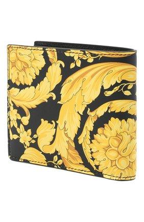 Мужской кожаное портмоне VERSACE желтого цвета, арт. DPU2463/DVTS26 | Фото 2