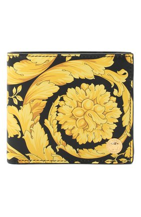 Мужской кожаное портмоне VERSACE желтого цвета, арт. DPU6737/DVTS26 | Фото 1