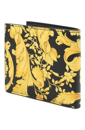 Мужской кожаное портмоне VERSACE желтого цвета, арт. DPU6737/DVTS26 | Фото 2