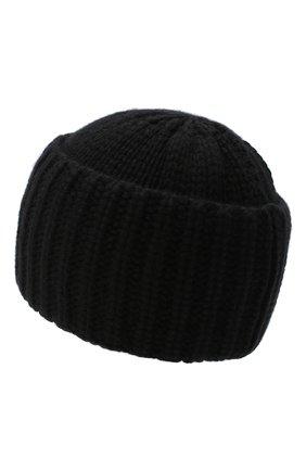 Мужская кашемировая шапка SAINT LAURENT черного цвета, арт. 629100/4Y205 | Фото 2