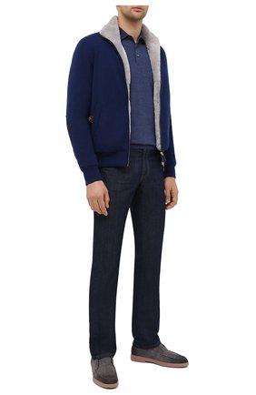 Мужская кашемировая куртка с меховой подкладкой SVEVO синего цвета, арт. 0140SA20/MP01/2 | Фото 2