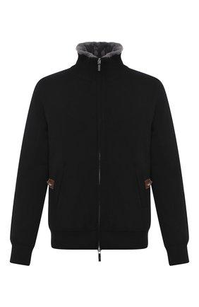 Мужская кашемировая куртка с меховой подкладкой SVEVO черного цвета, арт. 0140SA20/MP01/2 | Фото 1