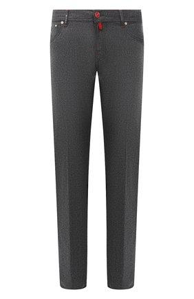 Мужские шерстяные брюки KITON серого цвета, арт. UPNJSK01T54 | Фото 1
