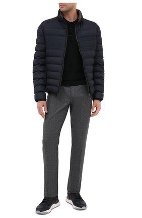 Мужские шерстяные брюки KITON серого цвета, арт. UPNJSK01T54 | Фото 2