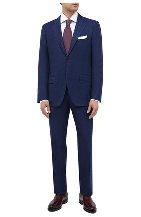 Мужской шерстяной костюм KITON темно-синего цвета, арт. UA81K01X52 | Фото 1