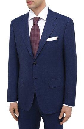 Мужской шерстяной костюм KITON темно-синего цвета, арт. UA81K01X52 | Фото 2